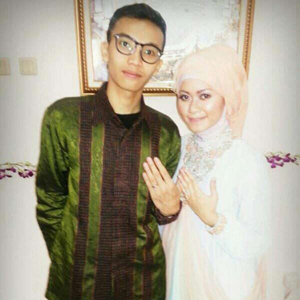 with fiancee